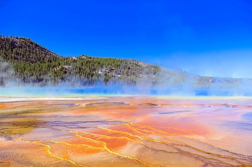 Grand Prismatic's Bacterial Color, Thermal, Pool