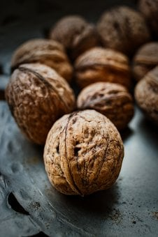 Walnut, Shell, Nuts, Food, Healthy, Brown, Delicious