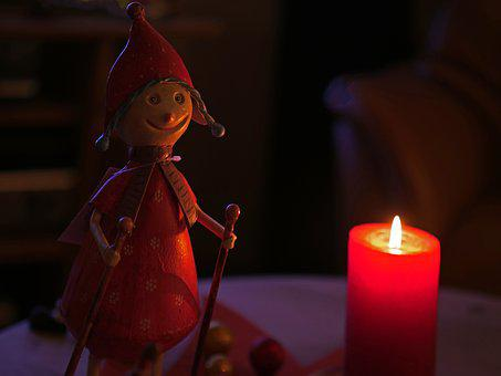 Candlelight, Advent, Holzfigur, Carved