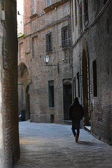 Siena, Italy, Tuscany, Street, Loneliness