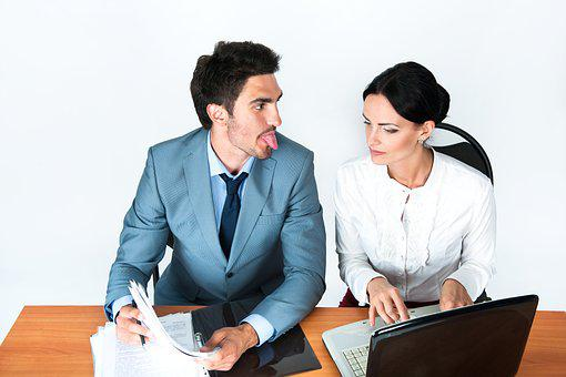 Man, Woman, Office, The Language, Manager, Quarrel