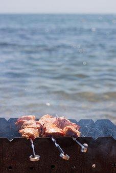 Mangal, Meat, Food, Skewers, Picnic, Summer, Bbq, Fry