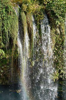 Waterfall, Drains, Fall, Water, Nature, Forest, Green