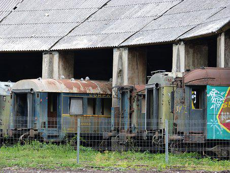 Train, Railway, Down Payment, Old, Abandoned