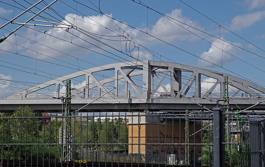 Railway Bridge, Metal Construction, Iron Construction
