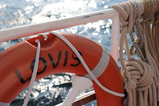Lovis, Ship, Lifebelt, Sailing Vessel, Board, Railing