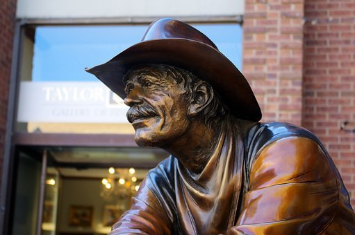 Waitin On An Answer, Sculpture, Statue, Cowboy, Figure
