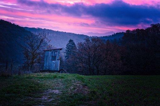 Twilight, Morning, Sunrise, Nature, Sky, Morgenrot