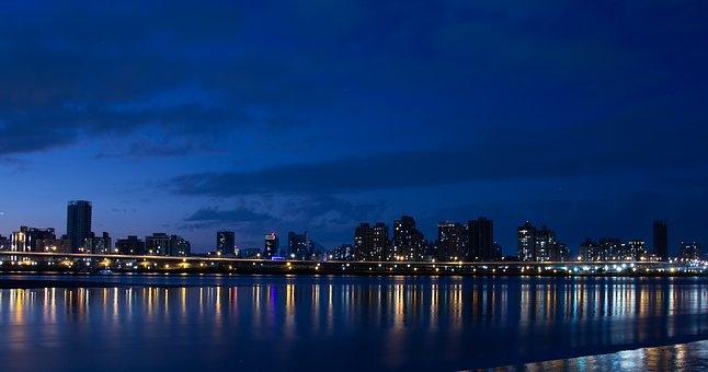 Taiwan, Taipei, Asia, City, Night, Skyline, Cityscape