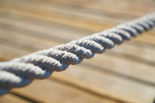Rope, Link, Wood, Marina, Marine, Ship, Solid