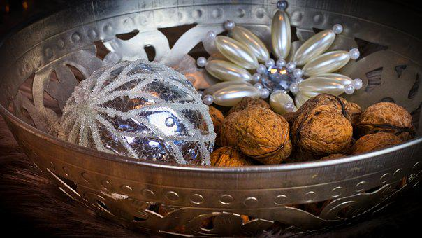 Walnuts, Shell, Star, Christmas Bauble, Christmas