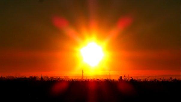 Sunrise, Sun, Landscape, Nature, Horizon, Sky, Morning