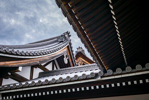 Pagoda, Roof, Temple, Lines, Wood, Oval, Bamboo