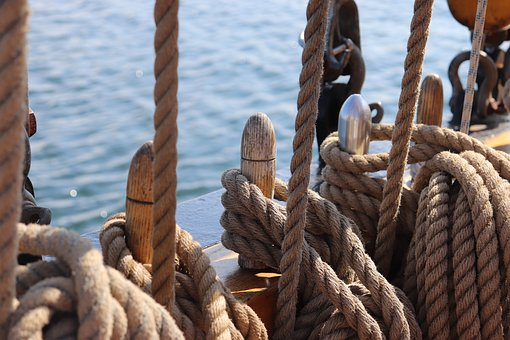 Sailing Vessel, Sea, Thaw, Ropes, Festival, Knot, Ship