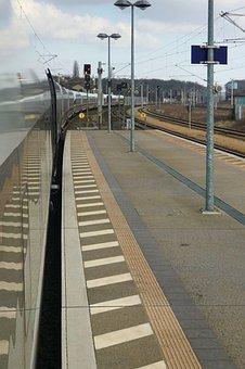 Ice, Platform, Train, Railway Station, Railway