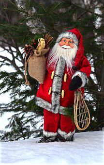 Father Christmas, Winter, Christmas, Trees, December