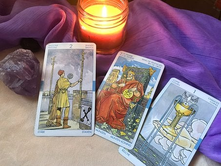 Tarot, Tarot Candles, Tarot Cards, Yellow Candle