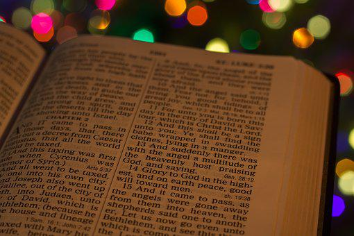 Christmas, Lights, Bible, Luke, 2, 14, Gospel