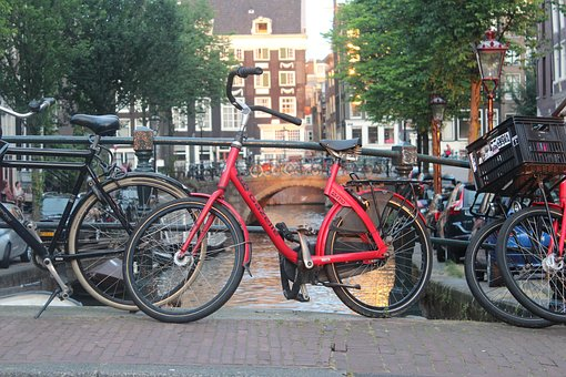 Bike, Holland, Amsterdam, Urban