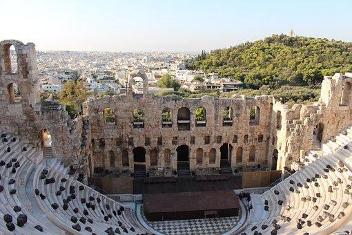 Theatre, Athens, Acropolis, Antique, Greece