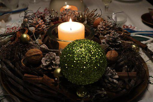 Advent, Wreath, Candle, Christmas Decoration