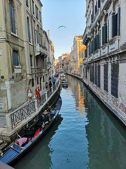 Italy, Venice, Channel, Vacations, Gondola, City, Water