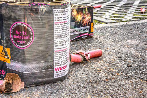 New Year's Eve, Firecrackers, Crackers, Garbage