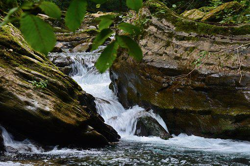 Creek, Waterfall, Falls, Rocks, Nature, Water, Cascade
