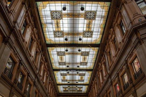 Rome, Ceiling, Italy, Architecture, Decorative, Italian