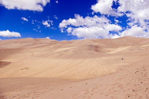 Sand And Sky In Colorado, Great, Sand, Dunes, National