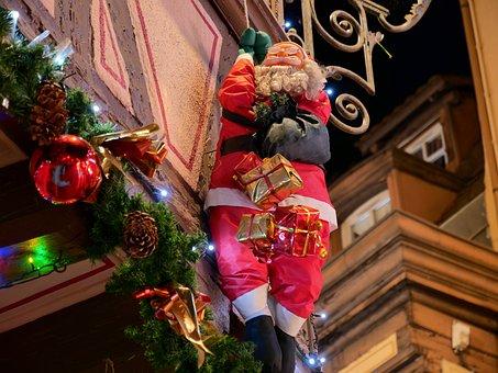 Christmas, Father Christmas, Father Christmas In Alsace