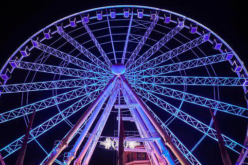 Ferris Wheel, Ride, Carnies, Entertainment, Fun