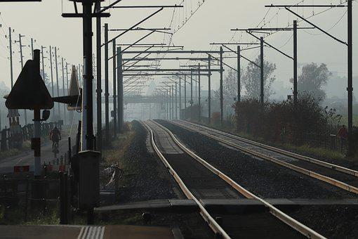 Rails, Fog, Railway, Transport, Grey, Track