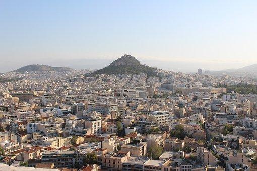 Athens, Acropolis, Lycabettus, Greece, Antique