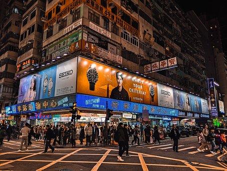 Mong Kok, Hong Kong, Kowloon, Street, View, Color