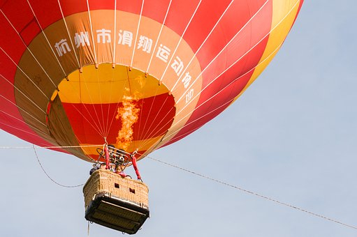 Fuyang, Hot Air Balloon, Blue Sky