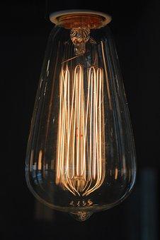 Light Bulb, Disappearing, Lamp, Light, Dark, Hell, Burn