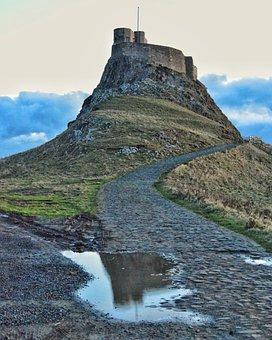 Lindisfarne, Castle, Christianity, Blue Castle