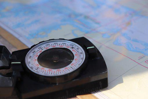 Compass, Map, Navigation, Travel, East, South, North