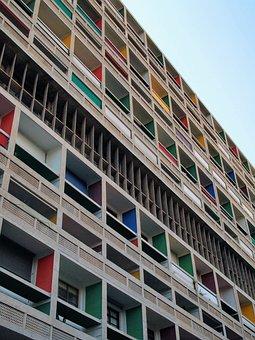 Architecture, Corbusier, Habitation, Modern, France