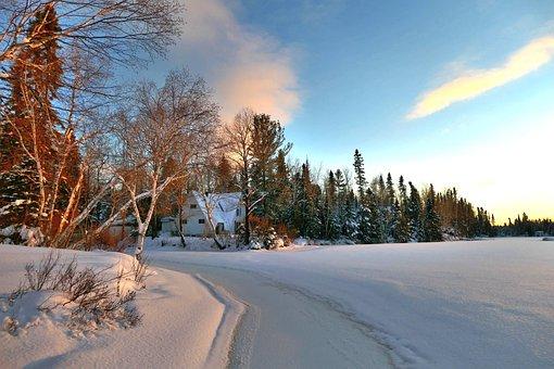 Landscape, Winter, Nature, Chalet, Snow, Cold, Ice