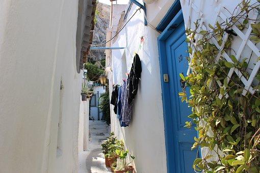 Plaka, Greece, Athens, Summer, Pierre, Landscapes