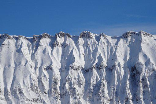 Rock, Ice, Winter, Snow, Nature, Landscape, Mountains