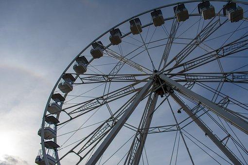 Ferris Wheel, Attraction, Cascais, Portugal, Sky