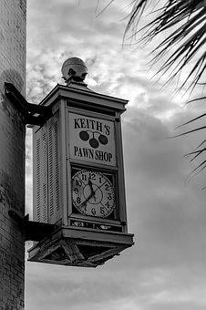 Clock, Pawn Shop, Small Town, History, Relic
