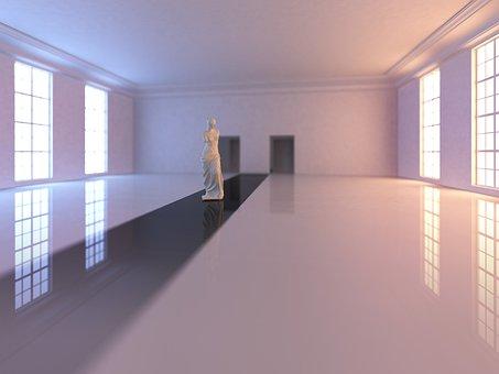 Hall, Museum, Statue, Dance Hall, Space, Interior, Mood