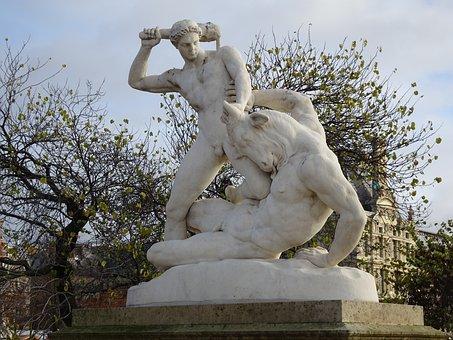 Statue, Sculpture, Pierre, Monument, Mythology, Man
