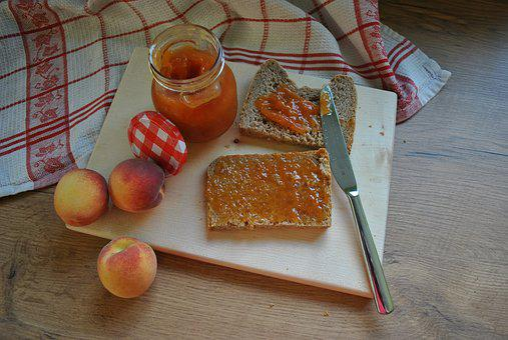 Peach, Jam, Food, Fruit, Summer, Sweet, Healthy, Bread