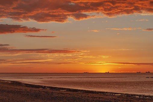Sunset, Sun, Sky, Landscape, Nature, Light, Horizon