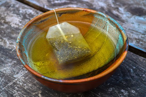 Tea Bags, Tea Cup, Ceramic, Table, Wood, Biological